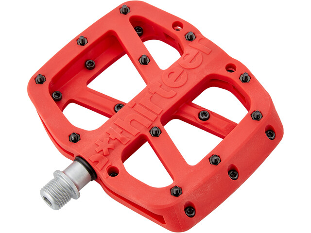 e*thirteen Base Flat Pedals 22 Pins red